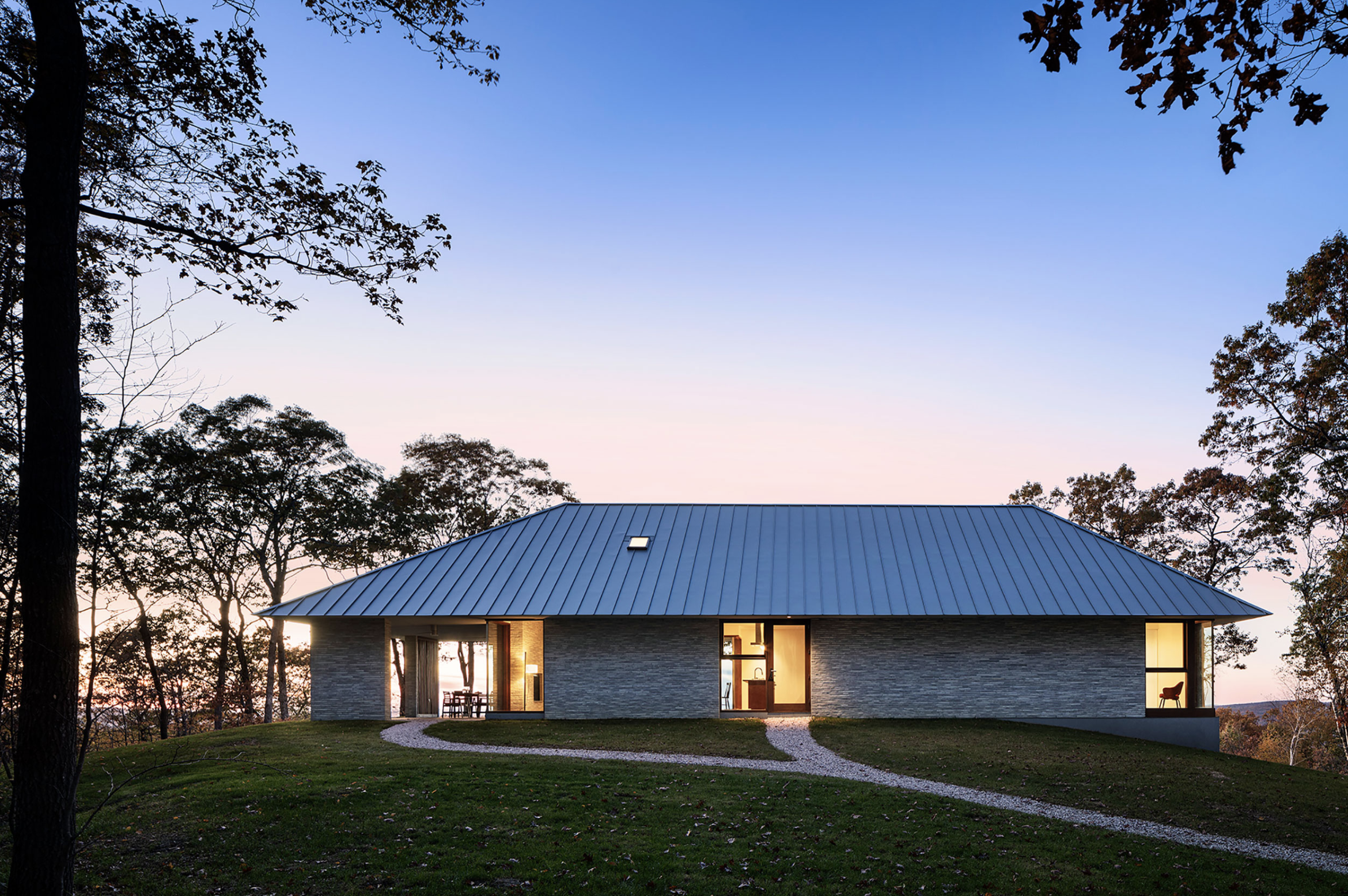 Mount Mauwen House by Paul Schulhof, AIA, in South Kent, CT. Photo: Michael Moran.